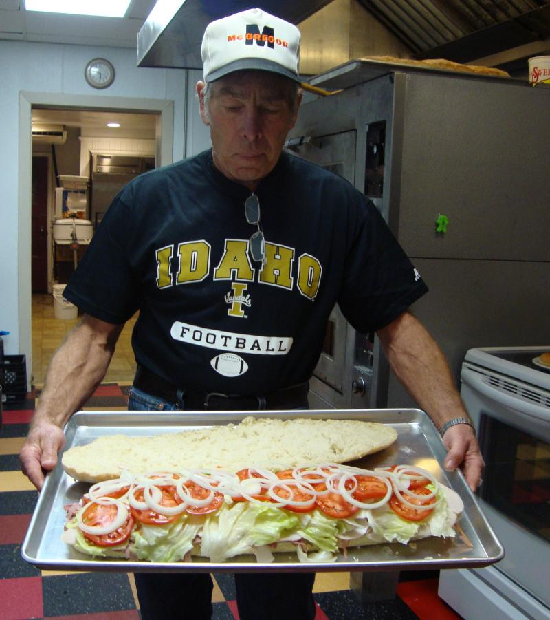 Cal with his homemade 3' sub